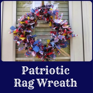 patriotic rag wreath | the teal magnolia