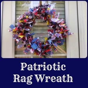 patriotic rag wreath | the teal magnolia
